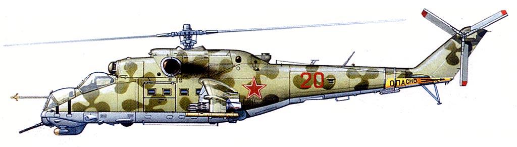 Схемы окраски Ми-24